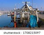 Fishing Boat And Fishing Net...