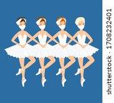 ballet dance  little swans.... | Shutterstock .eps vector #1708232401