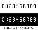 calculator digital numbers.... | Shutterstock .eps vector #1708233271