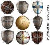 Shields Collection Isolated On...