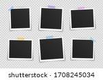 vector photo frame mockup... | Shutterstock .eps vector #1708245034