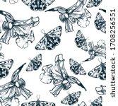 seamless pattern tropical... | Shutterstock .eps vector #1708256551