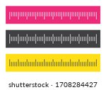 ruler. measuring scale  markup... | Shutterstock .eps vector #1708284427