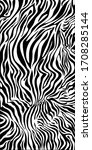 zebra print vector. original... | Shutterstock .eps vector #1708285144