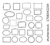 sketch picture frames. doodle... | Shutterstock . vector #1708342234