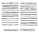 sketch lines. pencil textured... | Shutterstock . vector #1708345351