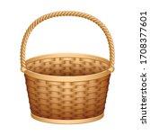 basket vector icon. realistic... | Shutterstock .eps vector #1708377601