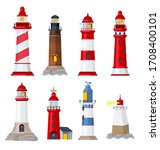 Lighthouse Cartoon. Port...