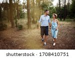 Cheerful Couple In Love Spends...