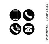 set of communication icons.... | Shutterstock .eps vector #1708415161