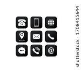 set of communication icons set. ... | Shutterstock .eps vector #1708415644