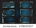 futuristic hud frames for call... | Shutterstock .eps vector #1708429327