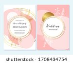 rustic elegant wedding... | Shutterstock .eps vector #1708434754