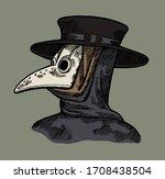 plague doctor   vintage... | Shutterstock .eps vector #1708438504