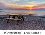 Quiet Lake Superior Beach At...