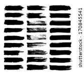vector set of grunge brush... | Shutterstock .eps vector #170845541