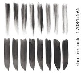 vector set of grunge brush... | Shutterstock .eps vector #170845565