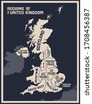 map united kingdom. poster map... | Shutterstock .eps vector #1708456387