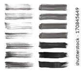 vector set of grunge brush... | Shutterstock .eps vector #170845649
