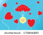 lovely valentine season | Shutterstock .eps vector #170846885