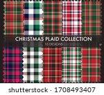 christmas plaid  tartan... | Shutterstock .eps vector #1708493407