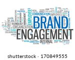 word cloud brand engagement | Shutterstock . vector #170849555