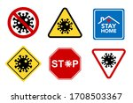 covid 19 typography design... | Shutterstock .eps vector #1708503367