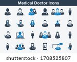 medical doctor icons. editable... | Shutterstock .eps vector #1708525807