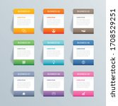 infographics rectangle paper...   Shutterstock .eps vector #1708529251