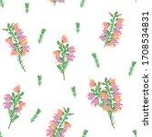 romantic floral pattern... | Shutterstock .eps vector #1708534831