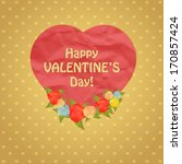 happy valentine's day design.... | Shutterstock .eps vector #170857424