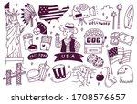 america travel destination... | Shutterstock .eps vector #1708576657