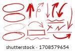 red arrows design vector. ... | Shutterstock .eps vector #1708579654