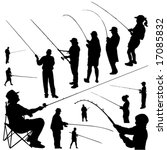 fishermen vector set | Shutterstock .eps vector #17085832
