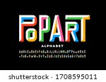 pop art style font design ... | Shutterstock .eps vector #1708595011