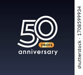 50 years anniversary vector...   Shutterstock .eps vector #1708599934