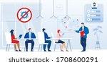 briefing  business meeting... | Shutterstock .eps vector #1708600291