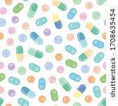 various pills  tablets and...   Shutterstock .eps vector #1708635454