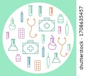health care icones vector round ...   Shutterstock .eps vector #1708635457