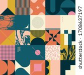 geometric distress aesthetics... | Shutterstock .eps vector #1708637197