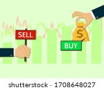 buy and sell over the stock... | Shutterstock .eps vector #1708648027
