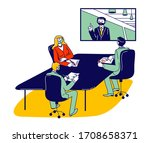 business people characters in... | Shutterstock .eps vector #1708658371