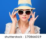 Young Woman In Hat And...