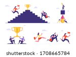 set of male and female business ... | Shutterstock .eps vector #1708665784