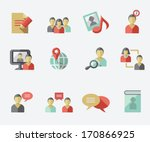 social media icons | Shutterstock .eps vector #170866925