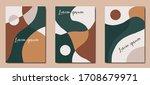 set of autumn brown backgrounds ... | Shutterstock .eps vector #1708679971