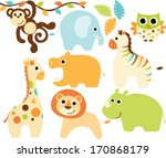 baby animals  boy  | Shutterstock .eps vector #170868179