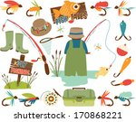 fathers day   fly fishing  ... | Shutterstock .eps vector #170868221