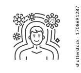 immunity related vector thin... | Shutterstock .eps vector #1708691287