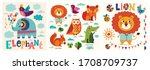 colorful baby collection of... | Shutterstock .eps vector #1708709737